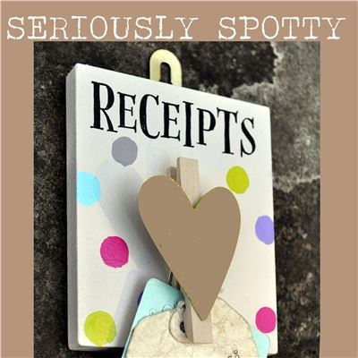 Seriously Spotty Peg:  Receipts
