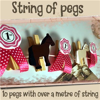 String of Pegs:  Horses