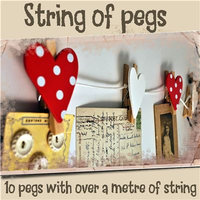 String of Pegs:  Hearts