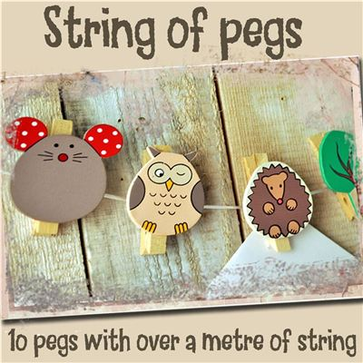 String of Pegs: Woodland Creatures