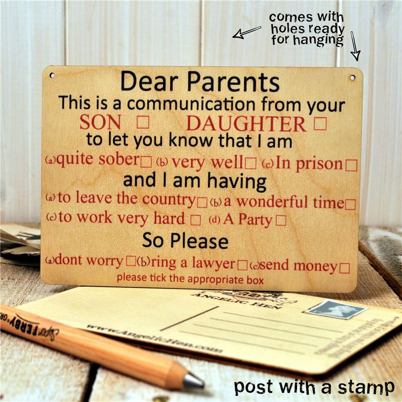 Order Dear Parents,  I am...tick as appropriate!