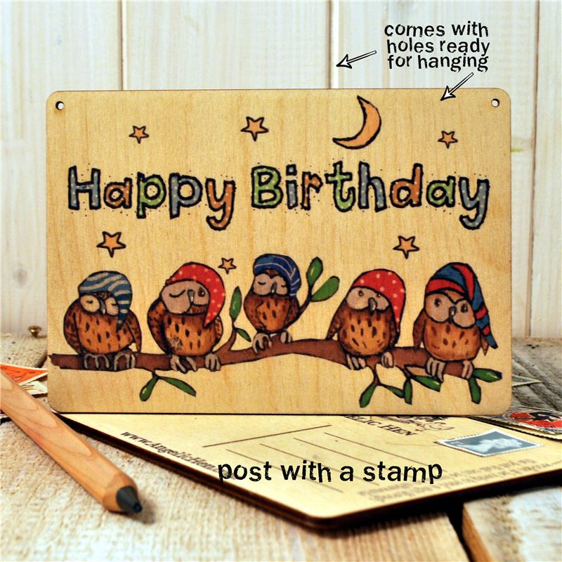 Sign Posts - Little Owls Happy Birthday