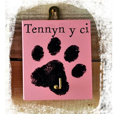 Tennyn y ci - the dogs lead (pink)