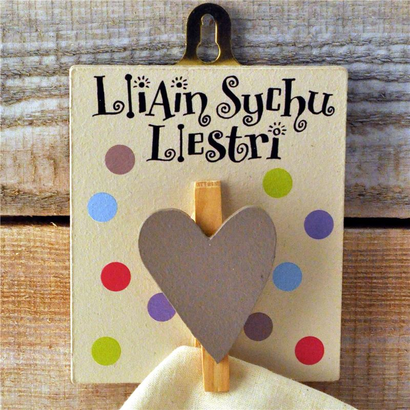 Order Welsh Seriously Spotty Peg: Llain Sychu Llestri (Tea Towel)